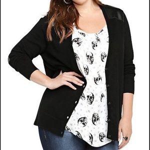 Torrid Black Cardigan Sweater Size 3 (3X)